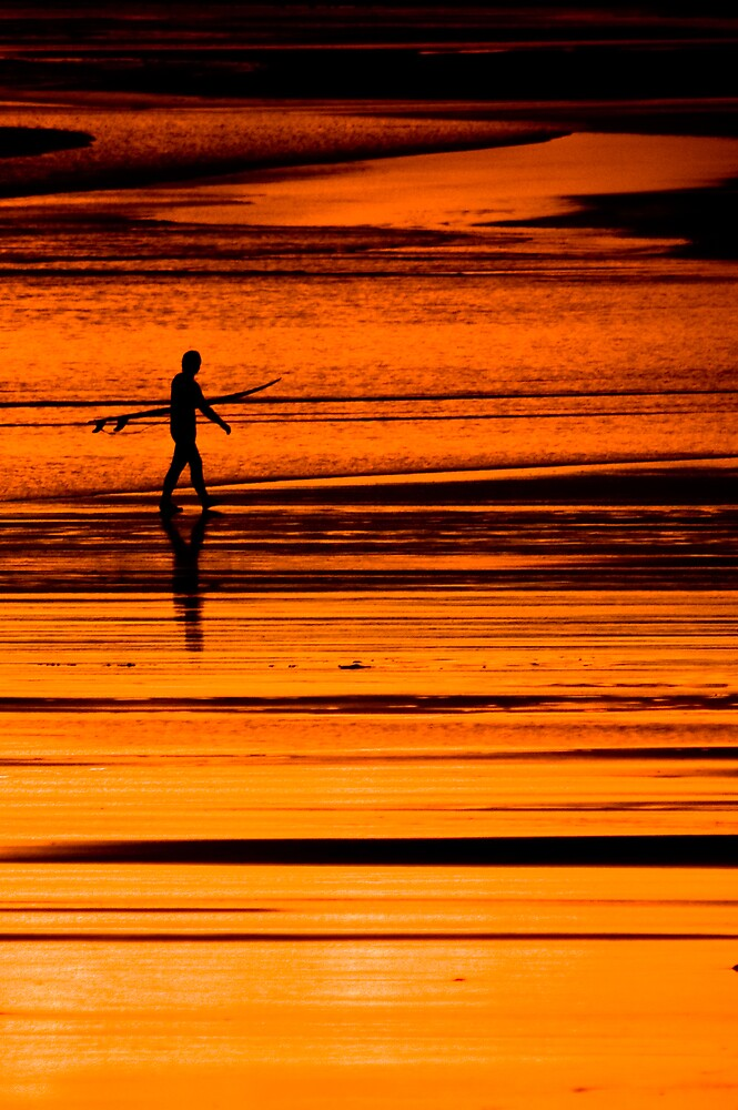 Solitary Surfer by ryanphotography