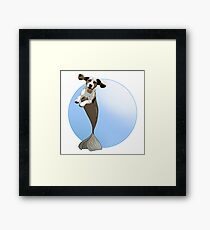 Biscuit the Beagle Merpup Framed Print