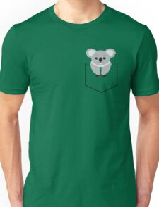 Koala In Shirt Pocket Unisex T-Shirt