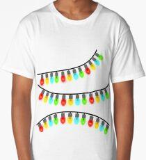 Christmas Lights String Vector Images Long T-Shirt