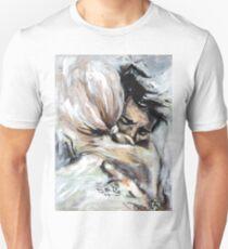 Emotional hug painting art prints and decor T-Shirt