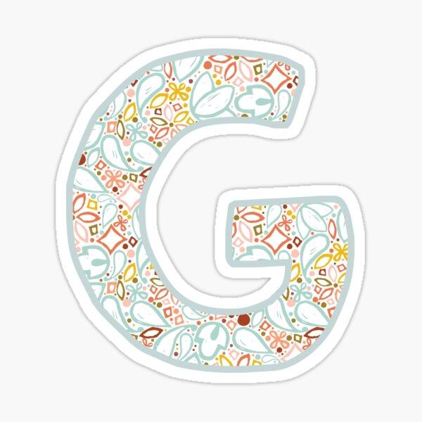 Letter G - Monogram Sticker