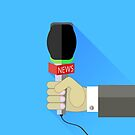 Reporter Holding a Microphone by valeo5