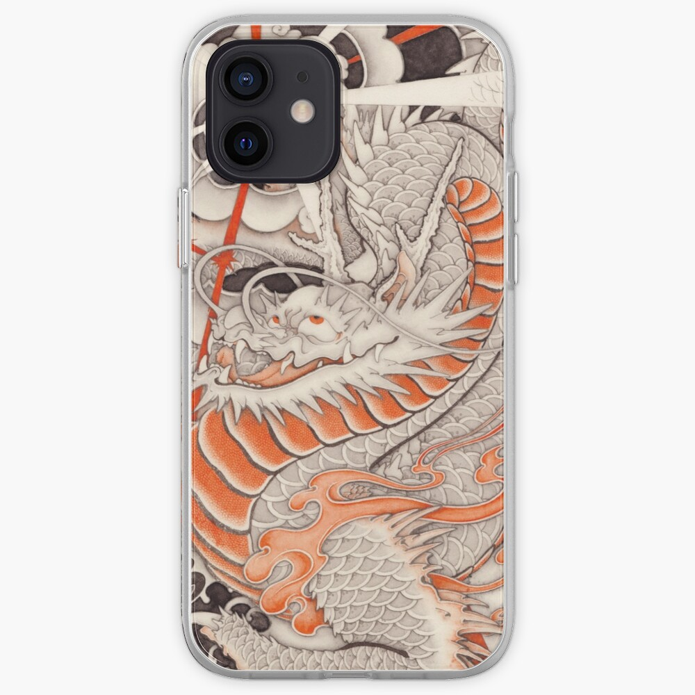 Japanese tattoo typhoon dragon iPhone Case & Cover