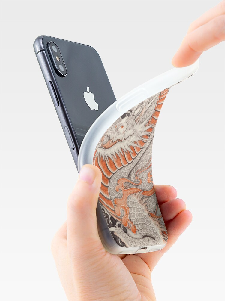 Alternate view of Japanese tattoo typhoon dragon iPhone Case & Cover