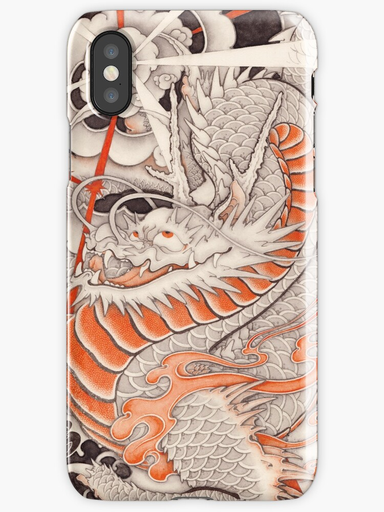 Japanese tattoo typhoon dragon iphone cases covers by for Tattoo artist iphone cases