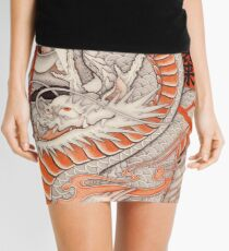 Japanese tattoo typhoon dragon Mini Skirt