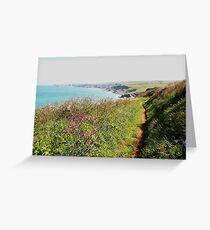 Cornish Coastal Path to Tintagel Greeting Card