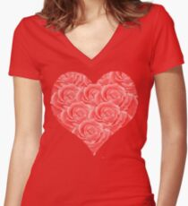 Bed of roses Women's Fitted V-Neck T-Shirt