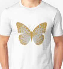 Silver Butterfly Unisex T-Shirt