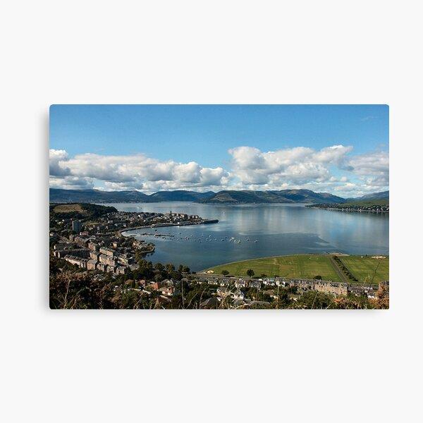 Gourock on the Clyde Scotland Canvas Print