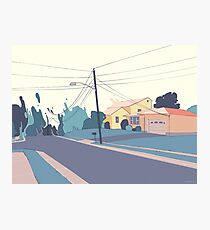 A few streets down Photographic Print