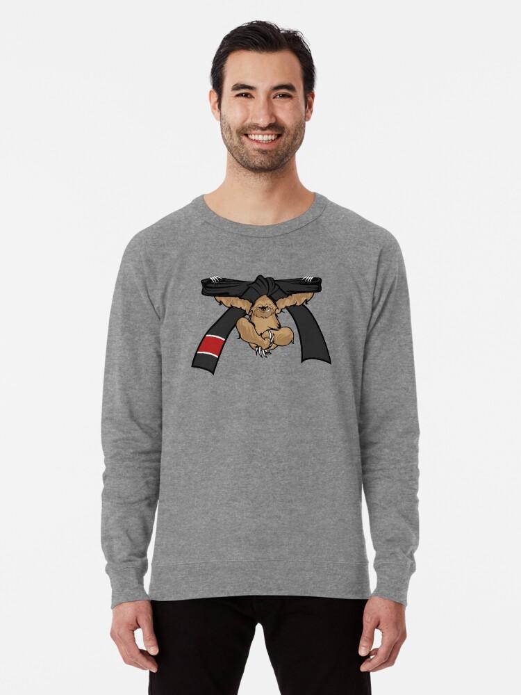 'Sloth Jiu Jitsu Shirt BJJ Black Belt' Lightweight Sweatshirt by  threadsmonkey