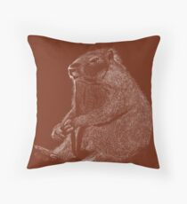 Marmet Scaperboard - Brown Throw Pillow