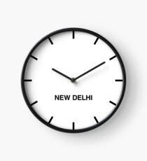 Newsroom Wall Clock New Delhi Time Zone Clock