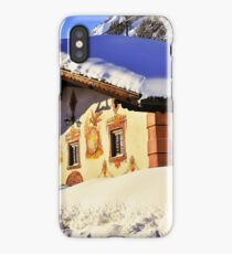 House in Alps under a snowy roof iPhone Case/Skin