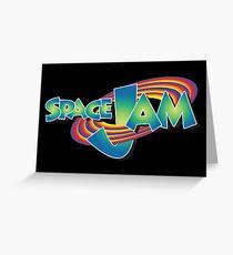 Space Jam Logo Aufkleber Grußkarte