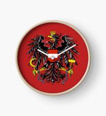 Coat of Arms Austria Clock