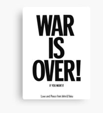 War Is over Poster Canvas Print