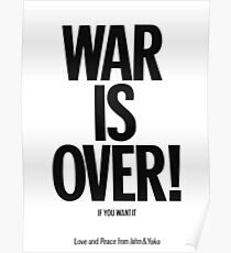 War Is over Poster Poster