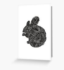 Complex Squirell Greeting Card