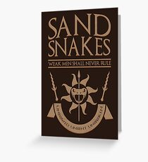 Sand Snakes Greeting Card