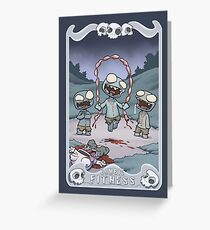 Zombie Fitness Greeting Card
