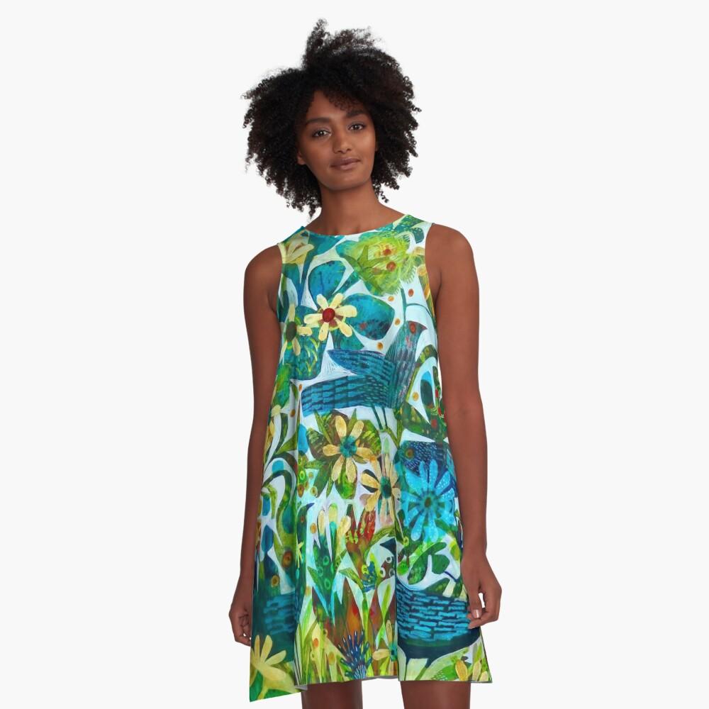 Sommerlicht, ein Este MacLeod Design A-Linien Kleid