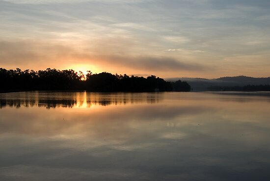 Golden Liquid Dawn ~ Johnstone River, Innisfail, Queensland. by Kerryn Madsen-Pietsch