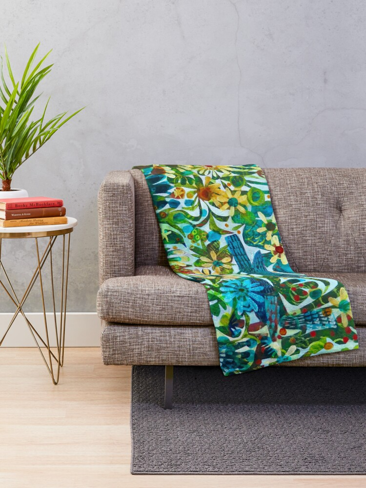 Alternate view of Summer light, an Este MacLeod design Throw Blanket