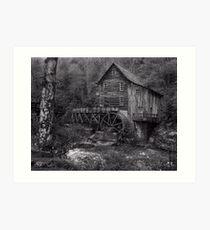 Glade Creek Grist Mill  Babcock SP  WVA Art Print