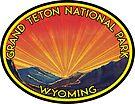 GRAND TETON NATIONAL PARK WYOMING TETONS MOUNTAINS SUNSET by MyHandmadeSigns
