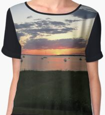 cape cod sunset 3 Chiffon Top