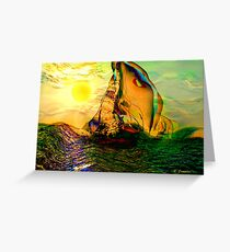SAILING ON FLORIDA WATERS, by E. Giupponi Greeting Card