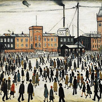 LOWRY, Artist, Matchstick men, Laurence Stephen Lowry, Going to Work  by TOMSREDBUBBLE