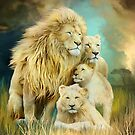 White Lion Family - Unity by Carol  Cavalaris