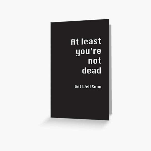 Get Well Soon Greeting Card Inappropriate office gossip Funny