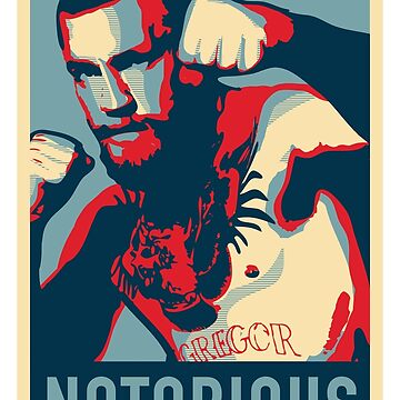 Conor McGregor NOTORIOUS Fan Print by gettinitnow