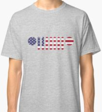 American Flag Jeep Wrangler Grill Classic T-Shirt