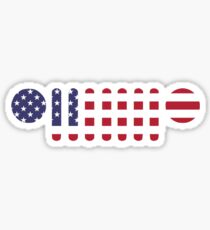 American Flag Jeep Wrangler Grill Sticker