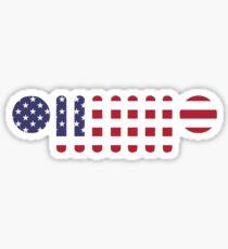 American Flag Jeep Wrangler Grill Sticker