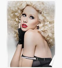 Christina Aguilera - Oil Paint Art Poster