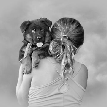 Young Girl and Puppy by SandyK