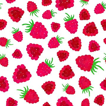 Raspberry Background Painted Pattern by amovitania