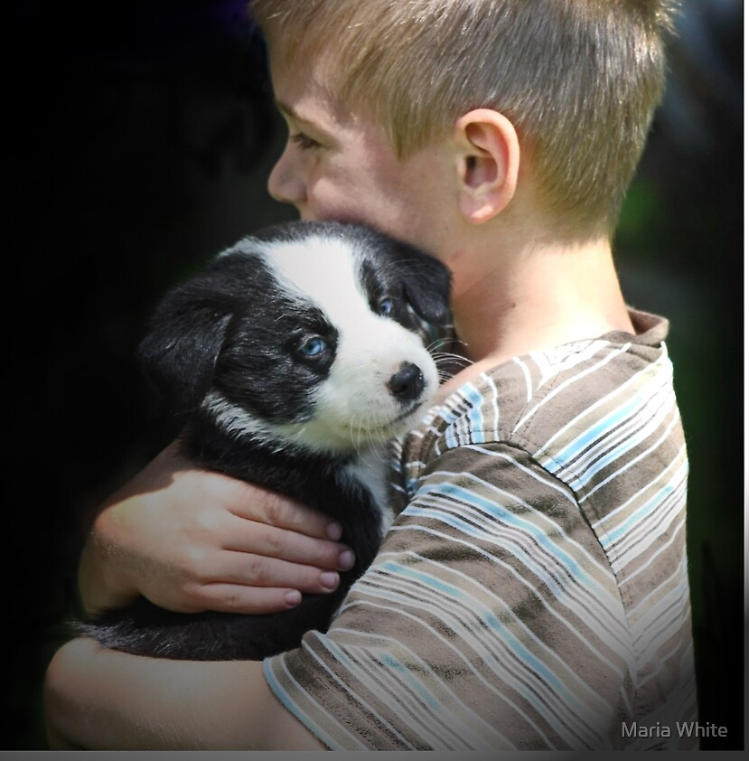 He loves his puppy by Maria White