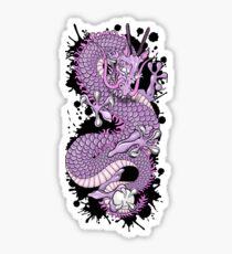 Deep Purple Japanese Dragon by Moose Disco Sticker