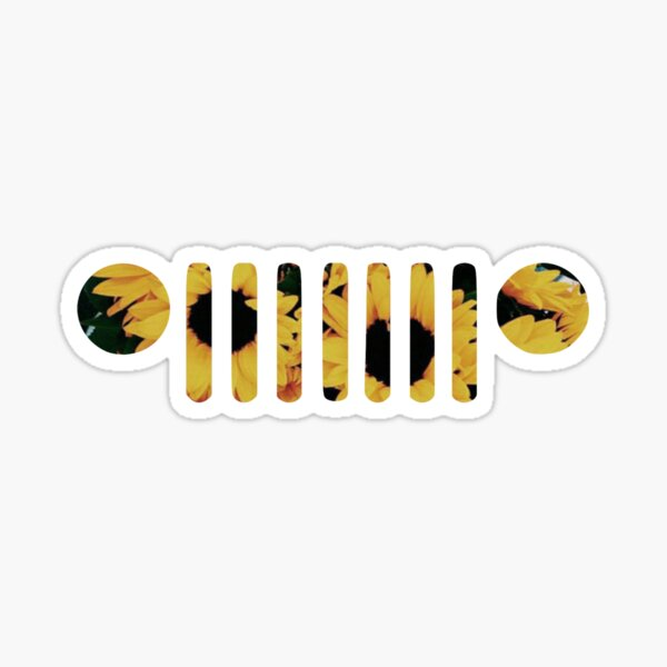 Sunflower Wrangler Grill Sticker