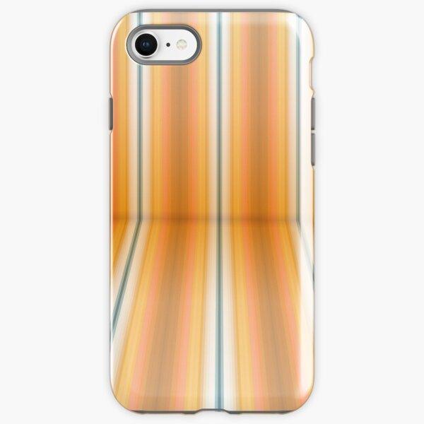 Gestreifte Leinwand eckig iPhone Robuste Hülle