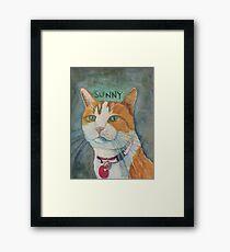 Portrait of Sunny  Framed Print