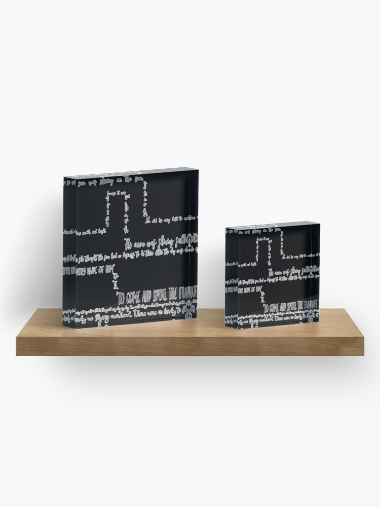 """Alternate view of """"The Walrus And The Carpenter"""" - A Text Based Pattern Acrylic Block"""